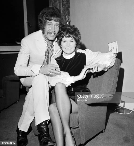 Cast members of the new ATV detective film series 'Department S' starring Peter Wyngarde and Rosemary Nicols 7th January 1969