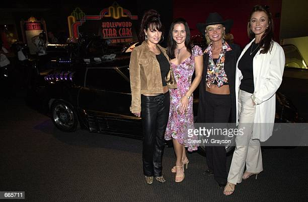 Cast members of the new series Black Scorpion Lisa Boyle, Athena Massey, Julie McCullough and Ava Fabian pose for photographers at the Unveiling of...