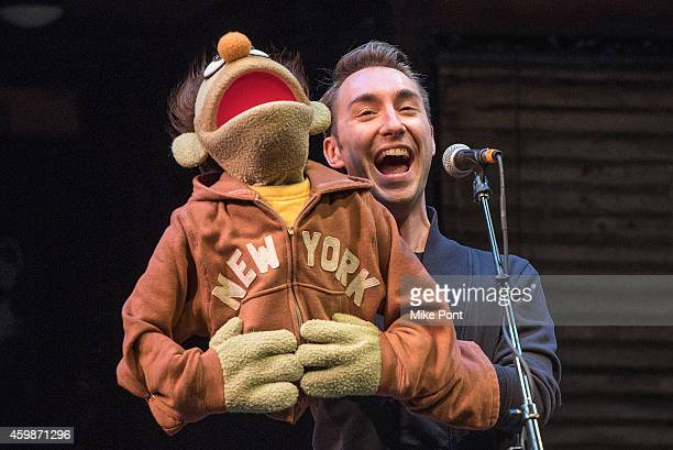 Cast members of the play 'Avenue Q' perform at the 2014 Ally Coalition's Talent Show at New World Stages on December 2 2014 in New York City