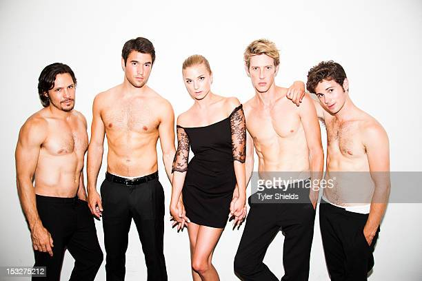 Cast members of the TV show Revenge, Emily Vancamp, Joshua Bowman, Gabriel Mann, Connor Paolo, and Nick Wechsler are photographed for Self Assignment...