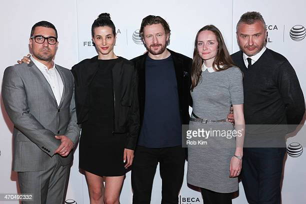 Cast members Orli Shuka Elisa Lasowski Peter Ferdinando producer Joanna Laurie and director Gerard Johnson attend the premiere of 'Hyena' during the...