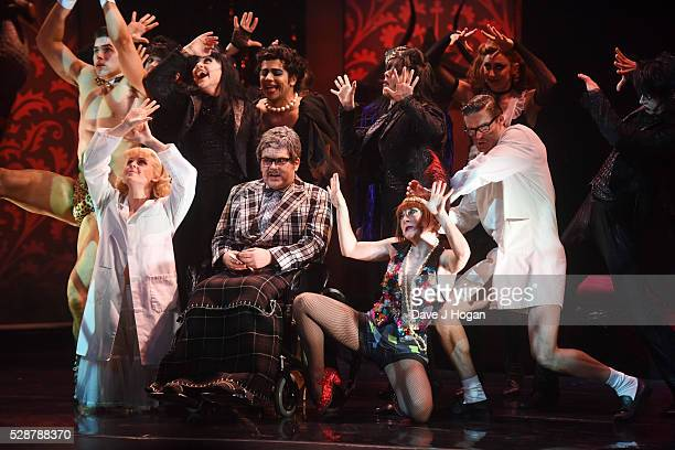 Cast members perform during 'The Rocky Horror Show' tour at Richmond Theatre on May 6 2016 in Richmond England