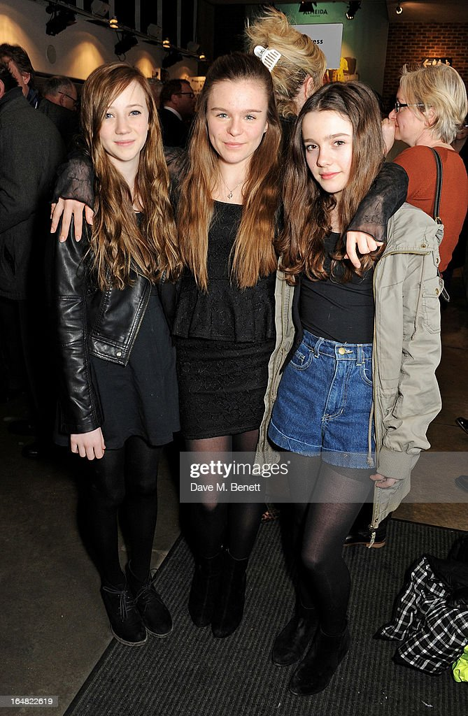 Cast members Polly Dartford, Emily Lane and Anna Devlin attend an after party following the press night performance of 'Before The Party' at the Almeida Theatre on March 28, 2013 in London, England.