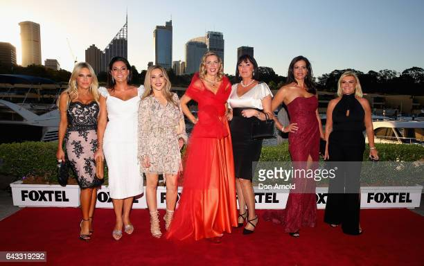 Cast members pose during The Real Housewives of Sydney Launch Event at Otto restaurant on February 21 2017 in Sydney Australia