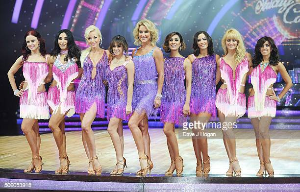 Cast members pose for a photo during the Strictly Come Dancing Live Tour rehearsals Strictly Come Dancing Live Tour opens tomorrow 22nd January at...