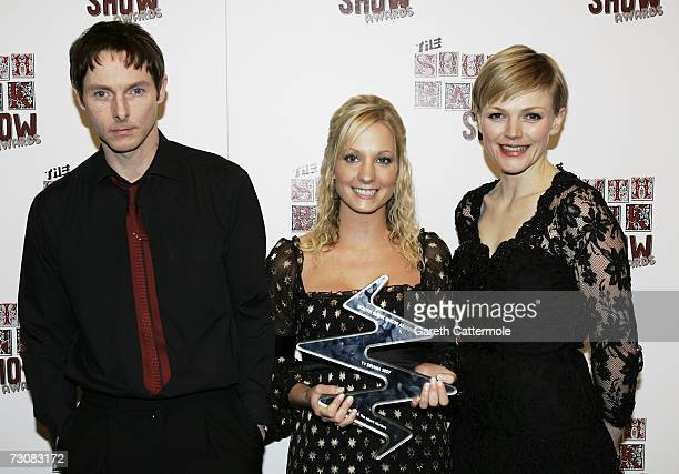 Cast members pose with the TV Drama award for See No Evil The Moors Murders at the South Bank Show Awards at the Savoy Hotel on January 23 2007 in...