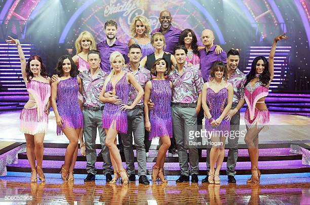 Cast members poses for a photo during the Strictly Come Dancing Live Tour rehearsals Strictly Come Dancing Live Tour opens tomorrow 22nd January at...