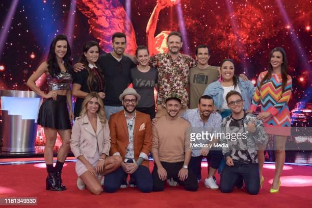 Cast members poses for photos during 'Me Caigo de Risa' New Season Presentation at Televisa San Angel on October 14 2019 in Mexico City Mexico