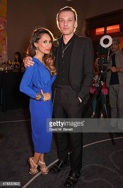 Cast members Preeya Kalidas and Jamie Campbell Bower attend the after party following the press night performance of 'Bend It Like Beckham The...