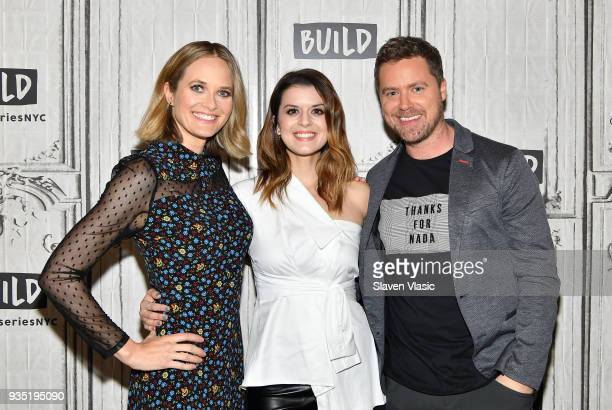 Cast members Rachel Blanchard Priscilla Faia and Greg Poehler visit Build Series to discuss DirecTV's Audience Network 'You Me Her' at Build Studio...