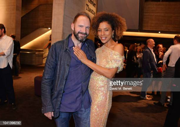 Cast members Ralph Fiennes and Sophie Okonedo attend the press night after party for Antony Cleopatra at The National Theatre on September 26 2018 in...