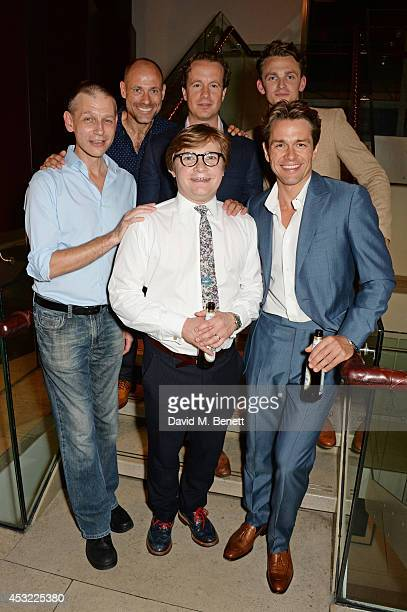 Cast members Richard Cant, Matt Bardock, Jonathan Broadbent, Geoffrey Streatfeild, Lewis Reeves and Julian Ovenden attend an after party following...