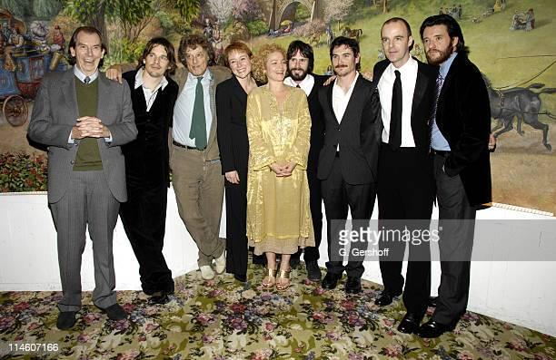 Cast members Richard Easton, Ethan Hawke, Tom Stoppard, playwright, cast members Jennifer Ehle, Amy Irving, Josh Hamilton, Billy Crudup, Brian F....