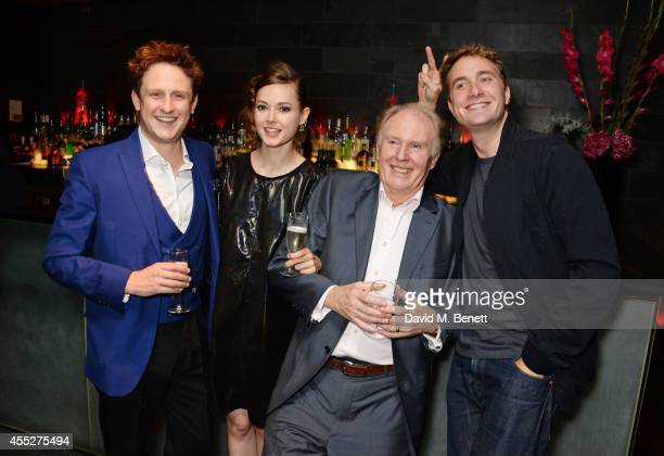 Cast members Richard Goulding Lydia Wilson Tim PigottSmith and Oliver Chris attend an after party celebrating the press night performance of King...