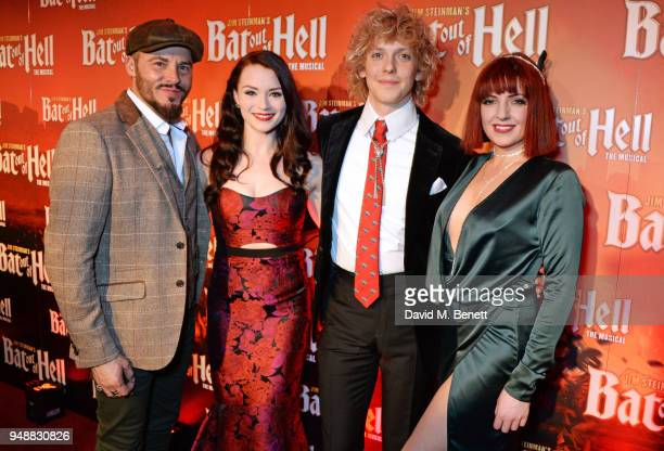 Cast members Rob Fowler Christina Bennington Andrew Polec and Sharon Sexton attend the Gala Night after party for 'Bat Out Of Hell The Musical' at...