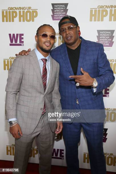 Cast members Romeo Miller and Master P attend WE tv's celebration of Growing Up Hip Hop Season 3 at the Smithsonian Institute National Museum of...