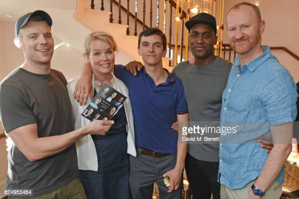 Cast members Russell Tovey Sara Crowe Fionn Whitehead Kadiff Kirwan and codirector Mark Gatiss attend a performance of Queers One Voice Monologues...
