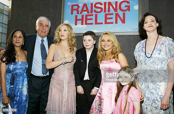 Cast members Sakina Jaffrey director Garry Marshall Kate Hudson Spencer Breslin Hayden Panettiere Abigail Breslin and Joan Cusack attend the film...