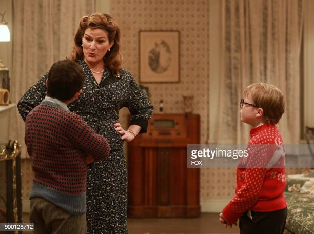 Cast members Sammy Ramirez Ana Gasteyer and Andy Walken during FOXs live musical event A CHRISTMAS STORY LIVE airing Sunday Dec 17 on FOX