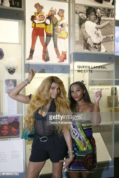 """Cast members Sandra """"Pepa"""" Denton and Egypt Criss attend WE tv's celebration of """"Growing Up Hip Hop"""" Season 3 at the Smithsonian Institute National..."""