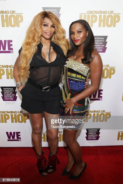 Cast members Sandra Pepa Denton and Egypt Criss attend WE tv's celebration of Growing Up Hip Hop Season 3 at the Smithsonian Institute National...