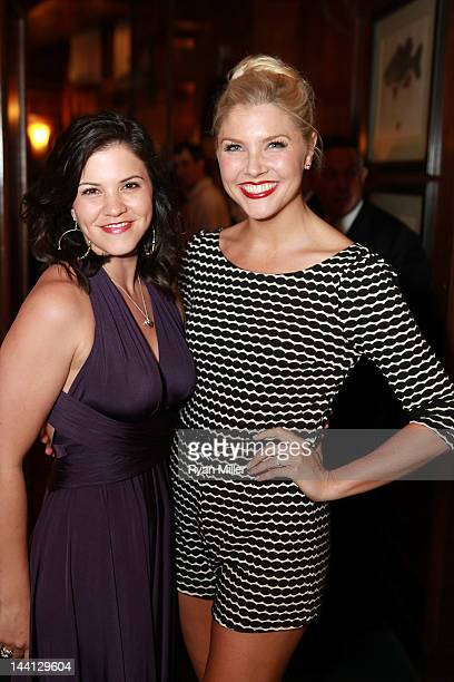 Cast members Sara Edwards and Amanda KlootsLarsen pose during the party for the opening night performance of Follies at Center Theatre Group/Ahmanson...