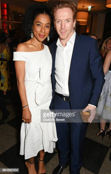 Cast members Sophie Okonedo and Damian Lewis attend the press night after party for Edward Albee's The Goat Or Who Is Sylvia at Villandry on April 5...