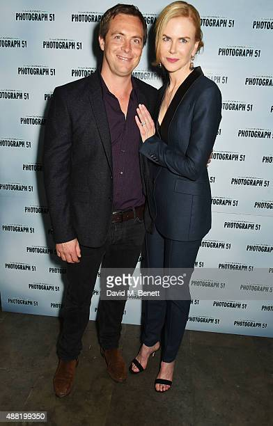 Cast members Stephen Campbell Moore and Nicole Kidman attend the 'Photograph 51' press night after party at the The National Cafe on September 14...