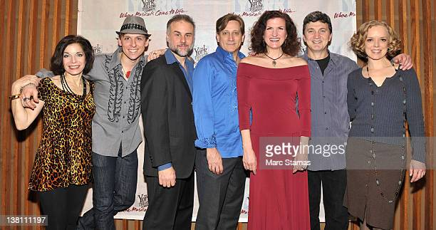 Cast members Susan J Jacks Leo Ash Evans Samuel Cohen David Edwards Tina Stafford Paul Binotto and Nancy Anderson attend the offbroadway opening...