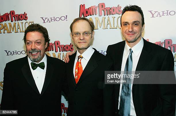 Cast members Tim Curry David Hyde Pierce and Hank Azaria attends the opening night after party for Monty Python's Spamalot at Roseland Ballroom March...