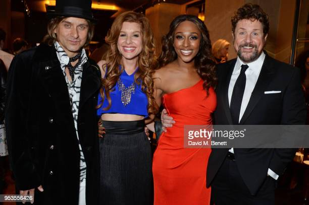 Cast members Tim Howar Cassidy Janson Alexandra Burke and Michael Ball attend the press night after party for 'Chess' at St Martins Lane on May 1...