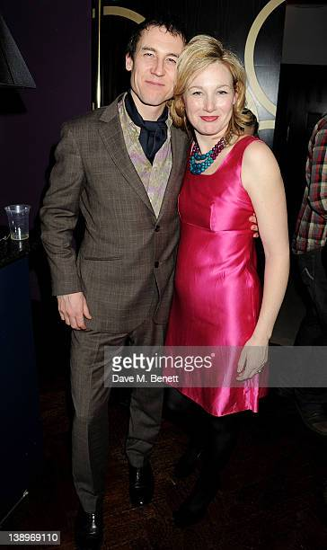 Cast members Tobias Menzies and Nancy Carroll attend an after party following the press night performance of Donmar Warehouse's 'The Recruiting...