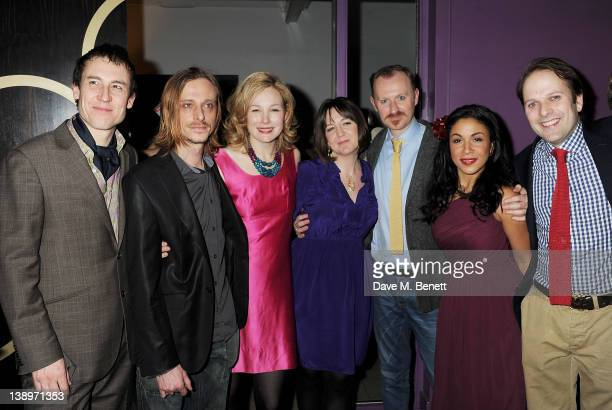Cast members Tobias Menzies Mackenzie Crook Nancy Carroll Donmar artistic director Josie Rourke Mark Gatiss Kathryn Drysdale and Nicholas Burns...