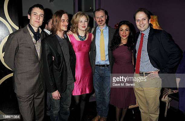 Cast members Tobias Menzies Mackenzie Crook Nancy Carroll Mark Gatiss Kathryn Drysdale and Nicholas Burns attend an after party following the press...
