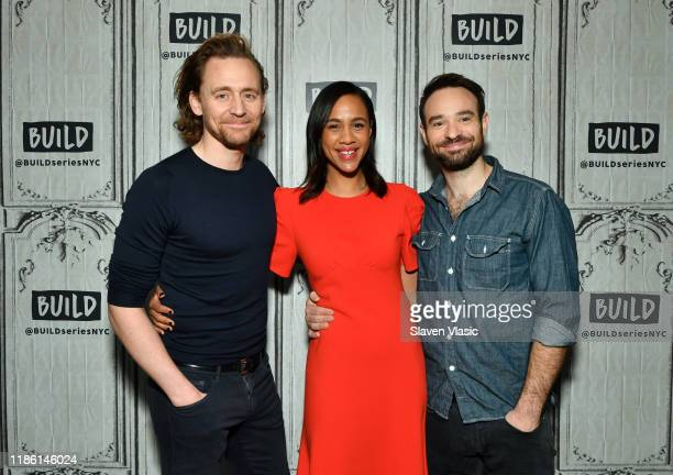 Cast members Tom Hiddleston Zawe Ashton and Charlie Cox visit Build Series to discuss their Broadway debut at Betrayal at Build Studio on November 07...