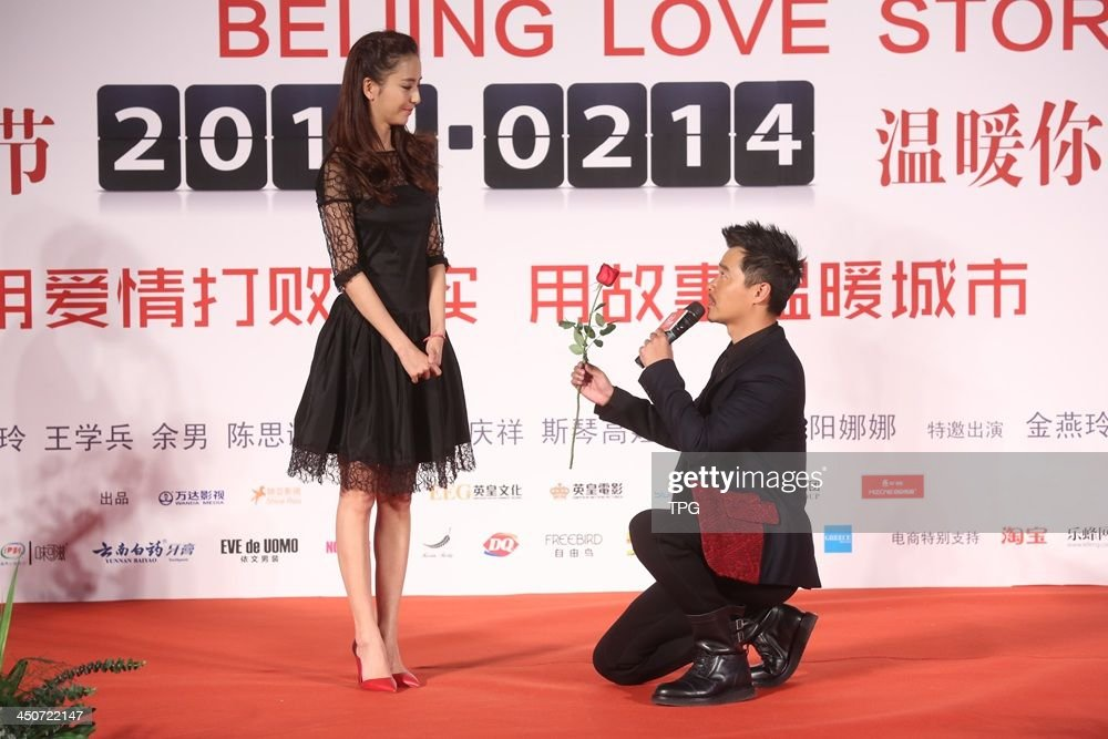 Cast members Tong Liya and director Chen Sicheng attend press conference of Beijing Love Story on Tuesday November 19,2013 in Hong Kong,China.