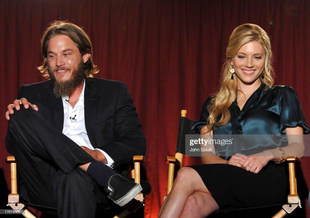 Cast members Travis Fimmel and Katheryn Winnick attend the