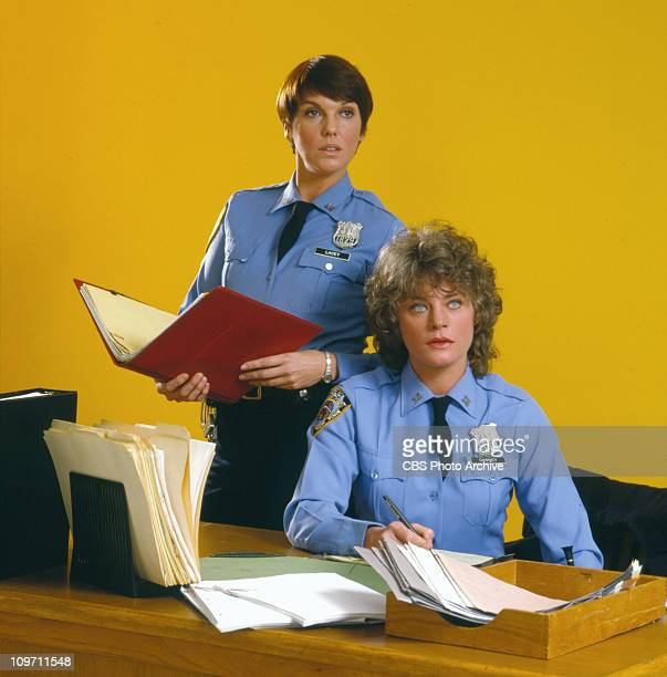 CAGNEY LACEY cast members Tyne Daly and Meg Foster Image dated 1982
