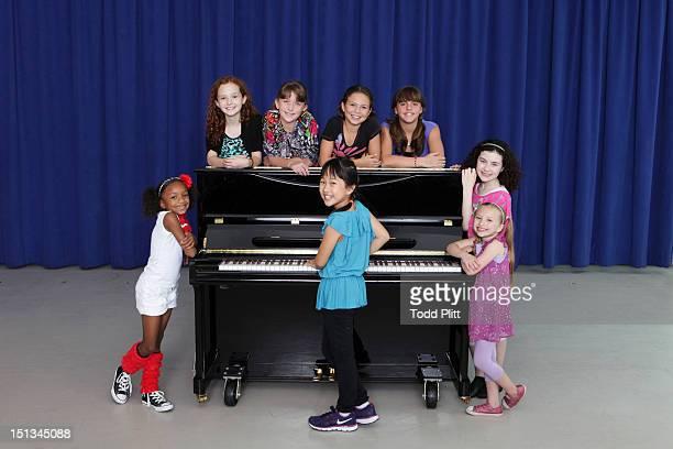 Cast members Tyrah Skye Odoms Taylor Richardson Jaidyn Young Junah Jang Madi Rae DiPietro Georgi James Lilla Crawford and Emily Rosenfeld from the...
