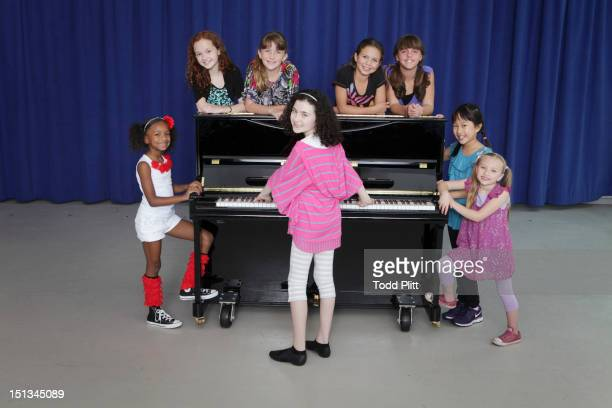 Cast members Tyrah Skye Odoms Taylor Richardson Jaidyn Young Lilla Crawford Madi Rae DiPietro Georgi James Junah Jang and Emily Rosenfeld from the...