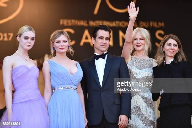 Cast members US actress Elle Fanning, US actress Kirsten Dunst, Irish actor Colin Farrell, Australian actrees Nicole Kidman and US director Sofia...