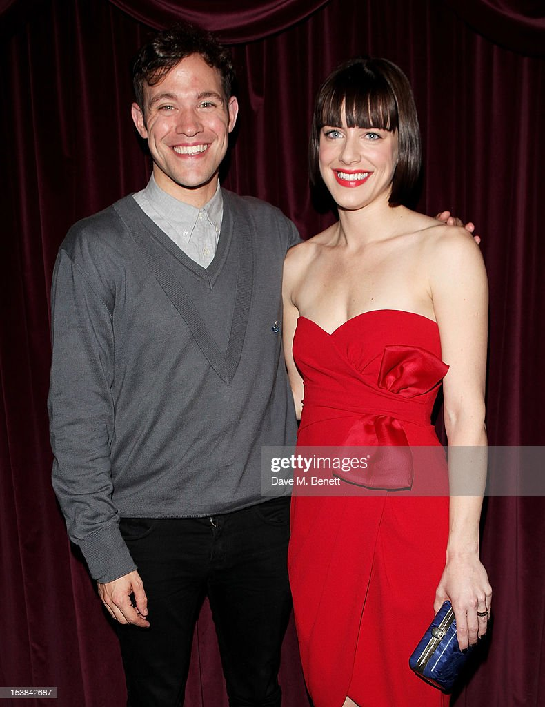 Cast members Will Young (L) and Michelle Ryan attend an after party following the press night performance of 'Cabaret' at Cafe de Paris on October 9, 2012 in London, England.