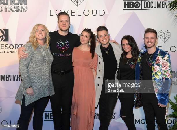 Cast memeber Alyson Deussen 'BELIEVER' Executive Producer/Imagine Dragons frontman Dan Reynolds singer Aja Volkman Love Loud Foundation members Jacob...