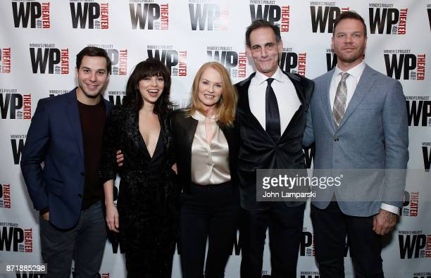 Cast Memebers Skylar Astin Krysta Rodriguez Marg Helgenberger Damian Young and Jim Parrack attend 'What We're Up Against' opening night at WP Theater...