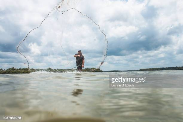 cast net 4 - lianne loach stock pictures, royalty-free photos & images