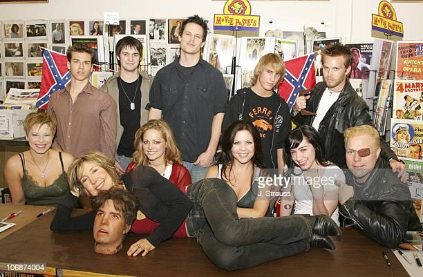 Cast of '2001 Maniacs' Jay Gillepsie Dylan Edrington Brendan McCarthy Ryan Fleming Brian Gross writer/director Tim Sullivan Bianca Smith Kodi Kitchen...