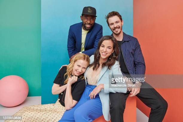 Cast of '68 Whiskey' Beth Riesgraf, Jeremy Tardy, Cristina Rodlo and Sam Keeley are photographed for Entertainment Weekly Magazine on February 27,...