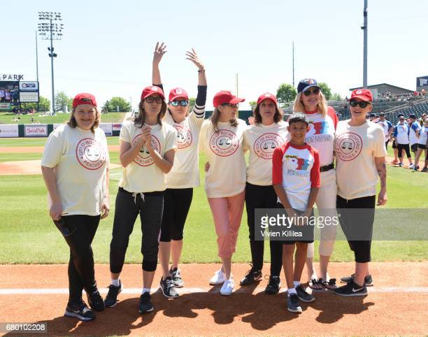 Cast of 'A League of Their Own' Megan Cavanagh Patti Pelton Anne Ramsay Renee Coleman Patti Pelton Geena Davis and Lori Petty attend 'A League of...