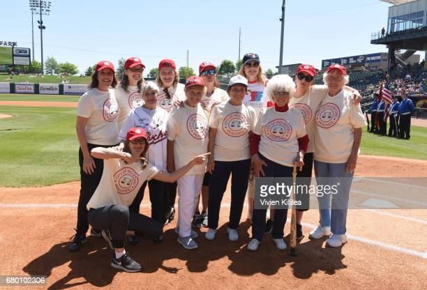 Cast of 'A League of Their Own' Patti Pelton Lori Petty Anne Ramsay Patti Pelton Renee Coleman Megan Cavanagh and Geena Davis and the original...
