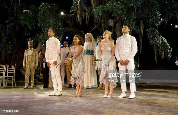 Cast of A Midsummer Night's Dream Opening Night at Delacorte Theater on July 31 2017 in New York City